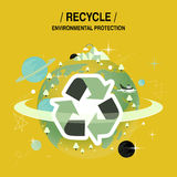 Concept de protection de l'environnement Photo stock