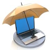 Concept de protection de l'ordinateur Image stock