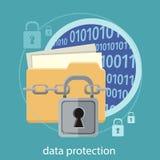 Concept de protection des données Photo stock