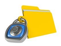 Concept de protection des données d'ordinateur Images libres de droits