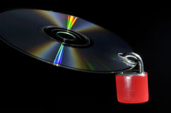 Concept de protection des données de disque compact Photographie stock libre de droits