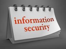 Concept de protection des données sur le calendrier de bureau. Photo stock