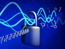 Concept de protection et sécurité de technologie illustration stock