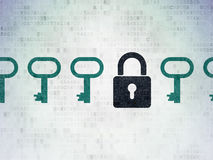 Concept de protection : icône fermée de cadenas sur Digital Images stock