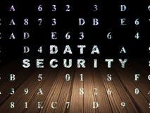 Concept de protection : Protection des données dans l'obscurité grunge Images libres de droits