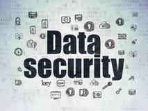 Concept de protection : Protection des données sur le papier de Digital Photos stock