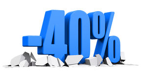 concept de publicité de vente et de remise de 40 pour cent Photos libres de droits