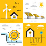 Concept 17 de puissance d'écologie Photo stock