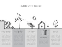 Concept 02 de puissance d'écologie Photo libre de droits