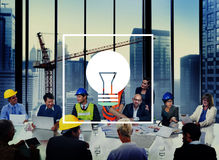 Concept de puissance d'innovation de vision d'inspiration d'idées d'ampoule Photo stock