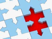 Concept de puzzle Photo stock