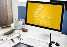 Concept de qualifications d'Art Pencil Drawing Creativity Imagination images stock