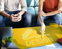 Concept de qualifications d'Art Pencil Drawing Creativity Imagination photos libres de droits