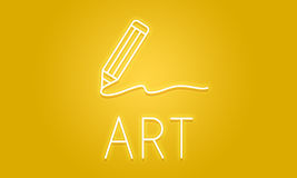 Concept de qualifications d'Art Pencil Drawing Creativity Imagination Image stock