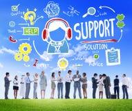 Concept de qualité de satisfaction de soin d'aide de conseil de solution de soutien Photos stock