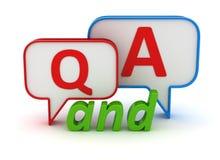 Concept de questions et réponses Photos stock