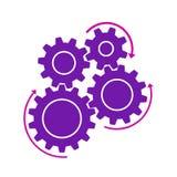 Concept de réalisation, rouages, travail d'équipe - vecteur courant illustration de vecteur