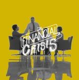 Concept de récession de sciences économiques de risque de crise financière Photographie stock