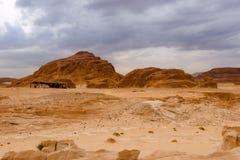 Concept de réchauffement global de fond de paysage de désert Image libre de droits