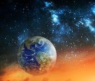 Concept de réchauffement global et d'apocalypse Image stock