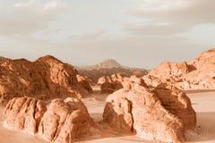 Concept de réchauffement global de fond de paysage de désert Image stock