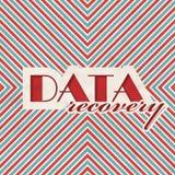 Concept de récupération de données sur le fond rayé. Photos libres de droits