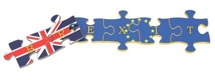 Concept de référendum de Brexit Photographie stock