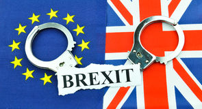 Concept de référendum de Brexit photo stock