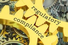 Concept de réglementation de conformité sur les roues dentées, rendu 3D illustration de vecteur
