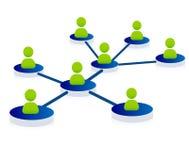 Concept de réseau Images libres de droits
