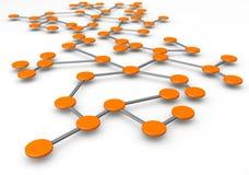 Concept de réseau d'affaires Photos stock
