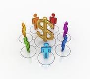 Concept de réseau d'affaires. illustration de vecteur