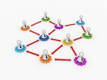 Concept de réseau d'affaires. Images libres de droits