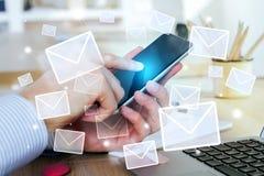 Concept de réseau d'email Photo stock