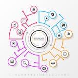 Concept de réseau d'Infographic Descripteur moderne d'affaires Vecteur Photos libres de droits