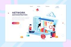Concept de réseau d'information d'administration de centre de traitement des données illustration stock