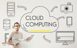 Concept de réseau de connexion de données de transfert de nuage Photos stock
