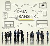 Concept de réseau de connexion de données de transfert de nuage Photographie stock libre de droits