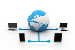 Concept de réseau global Images stock
