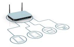 Concept de réseau Internet Image stock