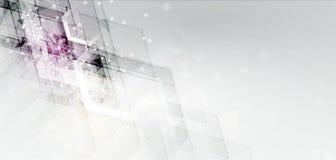 Concept de réseau neurologique Cellules reliées avec des liens Haut technol Photos libres de droits
