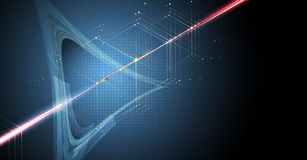 Concept de réseau neurologique Cellules reliées avec des liens Haut technol illustration libre de droits