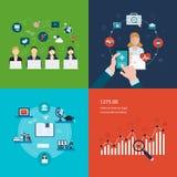 Concept de réseau social de media, projet Photographie stock libre de droits