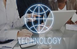 Concept de réseau de télécommunication mondiale de page Web d'Internet photos stock