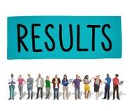 Concept de résultats d'efficacité d'évaluation d'effet de résultats Images libres de droits