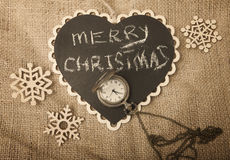Concept de rétro Noël et de nouvelle année Photo libre de droits