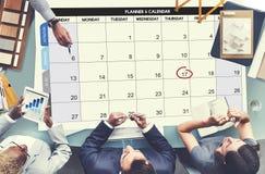 Concept de réunion d'événement de date-butoir de jour d'ordre du jour de Calenda Images libres de droits