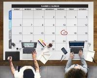 Concept de réunion d'événement de date-butoir de jour d'ordre du jour de calendrier photographie stock