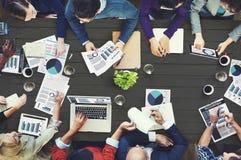 Concept de réunion d'affaires de comptabilité d'analyse des marchés image libre de droits