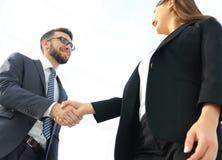 Concept de réunion d'association d'affaires Handsha de businessmans d'image Photo stock